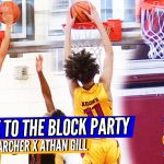 8TH GRADER Addison Archer is a BLOCKING MACHINE!!! Archer & Gill Lead Asheville Game Changers 14U!