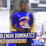 Jordan Coleman is SCs Most UNDERRATED PG … DOMINATES Long Standing #NCPhenom150 Camp