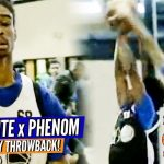 Phenom Mixtape Throwback: Coby White as a HS junior at #NCTop80