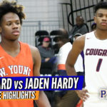 Top 10 Jaden Hardy vs Duke Signee DJ Steward GO AT Each Other!! Full Game RAW Highlights