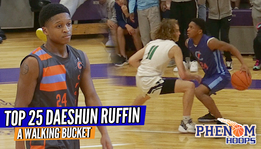 Is 5'9 Daeshun Ruffin the Country's Best Sub-6′ BUCKET GETTER?! #THEJohnWall 3 Game Raw Highlights