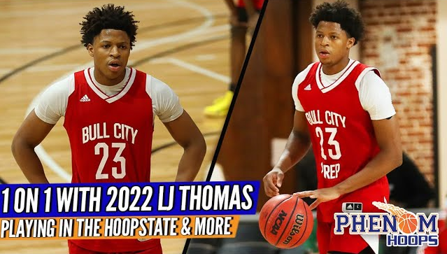 Interview: 2022 LJ Thomas on Making the Move to the HOOPSTATE + Proving Himself in NC!